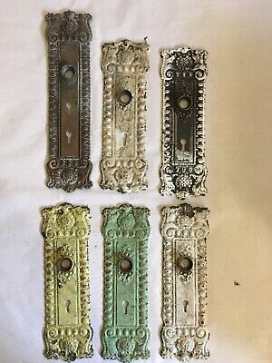 Lot #411 Bronze Stamped Blackplates Ornate Vintage Hardware