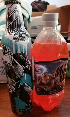 New unopened HALO Limited Edition Mountain Dew Bottles