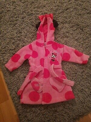 Girls Disney Minnie Mouse Dressing Gown 3-6 Months