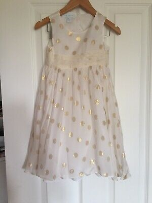 Marie Chantal Cream Gold Dress Age 4 Worn Once