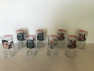 1984 STAR TREK 3 The Search for Spock Movie Glasses 1 Set 4 Extras Taco Bell