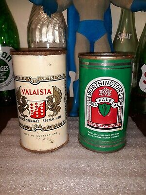Flat top beer cans valaisia and old Worthingtons India pale ale seldom seen