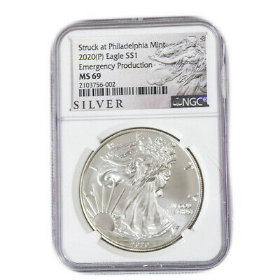2020 P $1 American Silver Eagle NGC 69 Emergency Production