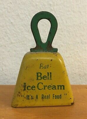 Antique Bell Ice Cream Advertising Bell Blue Bell ? Texas No Reserve