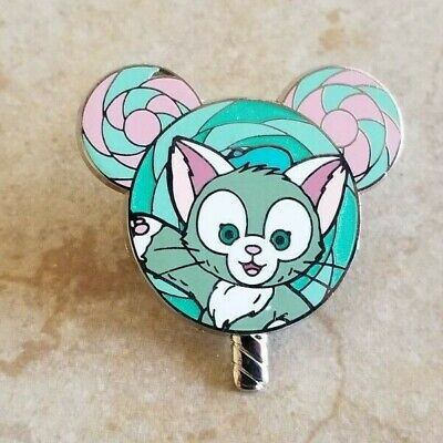 Pin Trading Disney Pins Hong Kong Disneyland Gelatoni Mickey Shaped Lollipop Cat