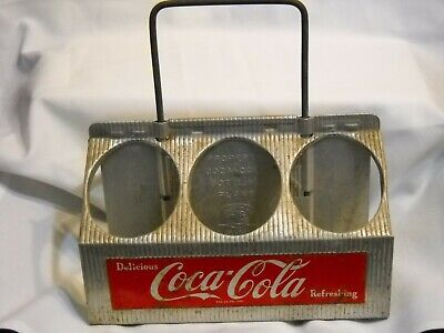 Vintage Original  1950'S Metal Coca Cola Six Bottle Carrier