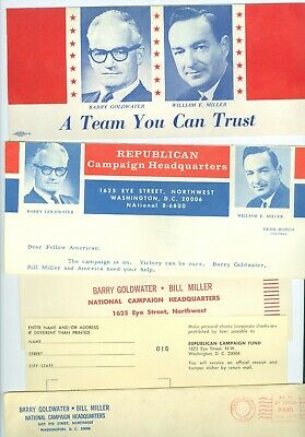 1964 Barry Goldwater for President Campaign Packet with Mailing Envelope