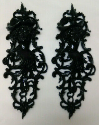 Antique Victorian Style Cast Iron Wall Plaques