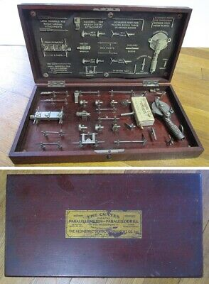 1915 The Chayes Dental Paralellometer and Paralellodrill Antique Instrument Kit