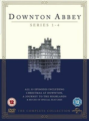 Downton Abbey - Series 1-4 - Complete Collection DVD Set Box Set New/Sealed UK