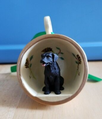 Labrador Retriever Black Ornament - In Mini Mug - GTCD-24A