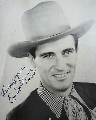 Vintage Ernest Tubb Country Music Pioneer Printed Autographed Picture 1940-50's