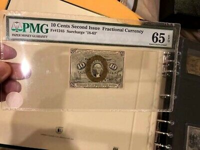 Fractional Currency 2nd Issue Fr 1245 10¢  PMG Gem Unc 65 EPQ WASHINGTON
