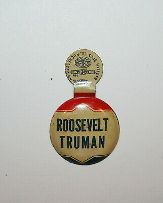 1944 Roosevelt & Truman FDR President Campaign Button Political Pinback Pin Tab