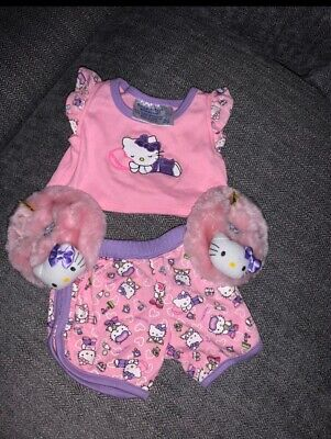 build a bear clothes Hello Kitty 2 piece outfit w/purple trim
