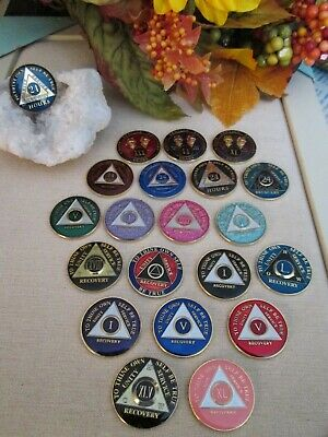 AA Alcoholics Anonymous Medallion Chip Coin Coins