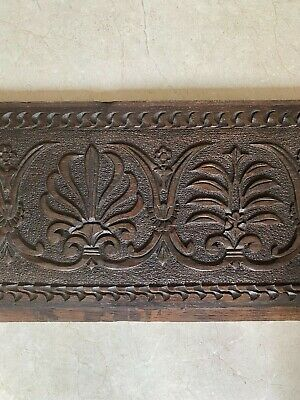 19th Century Carved OAK PANEL Overmantel