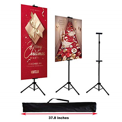 HUAZI Double-Sided Poster Stand,Floorstanding Sign Stand for Display,Height up