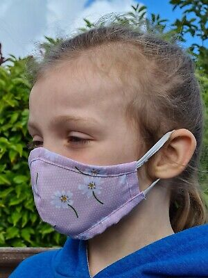 Face Mask Reusable Washable Protective Breathable Covering 100% Cotton Kids Size