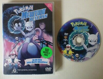MEWTWO RETURNS dvd REGION 4 pokemon RARE OOP movie 2001 pikachu