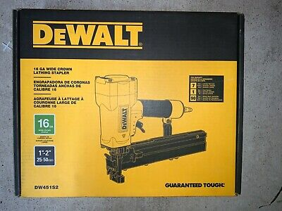 "NEW Dewalt DW451S2 16Ga Wide 1"" Crown Pneumatic Air Lathing Stapler"