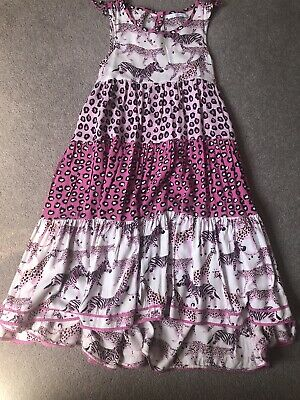 Girls Pink/black Maxi Dress From M & S Age 7/8