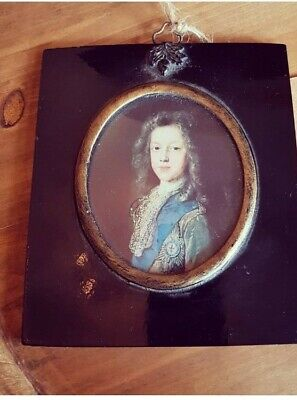 Early 19th Century Portrait Of A Man In Antique Ebonised Acorn Frame