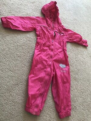 Pink Regatta Outdoors All In One Waterproof Age 18-24mths