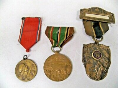 3 War Related Medals Verdun 1916 And 2 Others