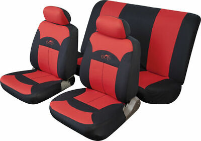 Cosmos Celcius Full Set Red Seat Covers Front & Rear Universal Car Protectors