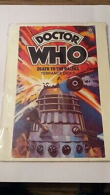 DOCTOR WHO Target Death To The DALEKS Terrance Dicks large rare poster good cond