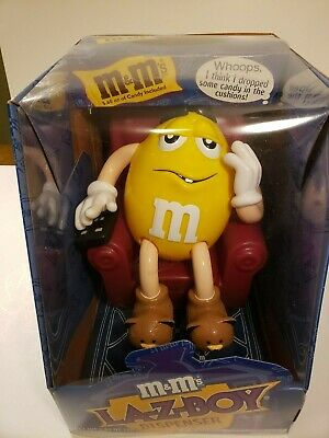 M&M LA-Z-BOY candy dispenser limited edition New in Box with original candy
