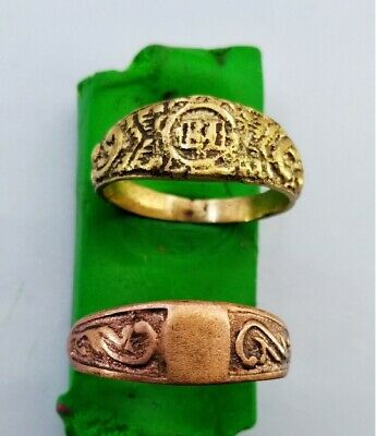 Ancient MEDIEVAL bronze Ring 4.6 gr Vintage antique ARTIFACT 20 mm Byzantine