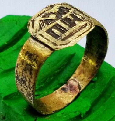 Ancient MEDIEVAL bronze Ring 2.2 gr Vintage antique ARTIFACT 19 mm Byzantine