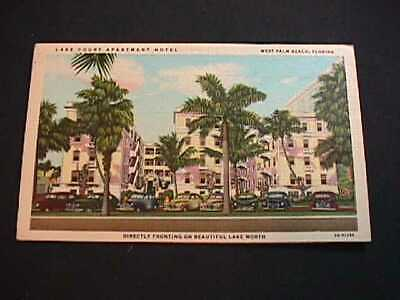 Lake Court Apartment Hotel, West Palm Beach, Florida Postcard