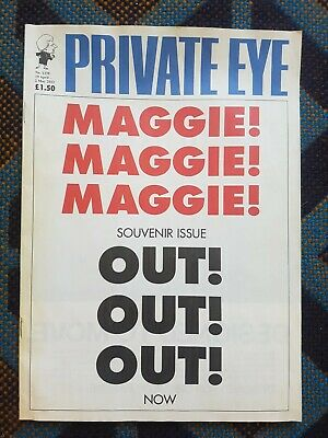 Private Eye April 2013 Thatcher MAGGIE OUT!