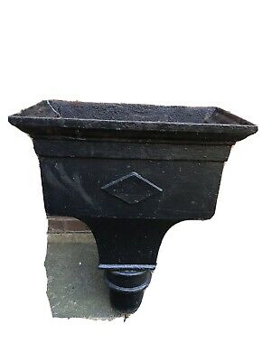 Antique Victorian Rain Water Hopper Large Heavy Cast Iron 4inch Outlet