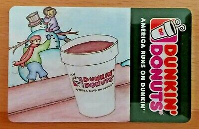 2008 DUNKIN' DONUTS Winter Snowman Coffee Gift Card No Value