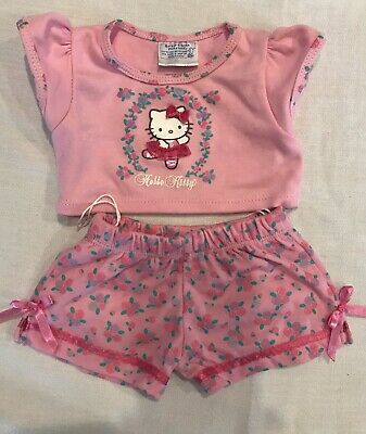 Build-A-Bear HELLO KITTY PINK BALLERINA ROSES OUTFIT PAJAMAS PJ'S Teddy Clothes