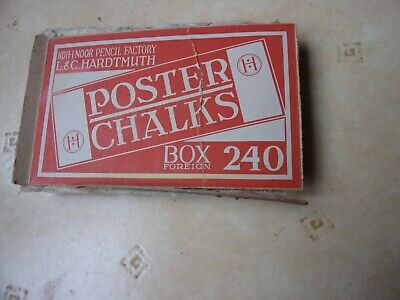 Poster Chalk  12 -Pencil Koh  I  Noor - Factory L& C Hardtmuth  Box  Foreign 240