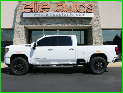 2020 GMC Sierra 2500 Denali Diesel EVERY OPTION Lift Wheels and Tires 2020 Denali New Turbo 6.6L White Frost 22 INCH FUEL WHEELS 37 inch Tires LIFT