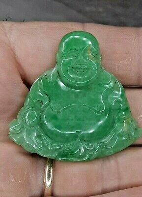 Best Icy Green Jade Seated Buddha Figure Untouched Pc Make Offer!