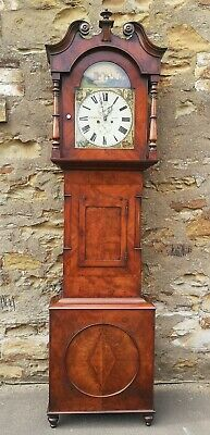 Victorian Mahogany Eight Day Longcase / Grandfather Clock. Jc Elliot Leeds