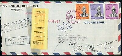Mayfairstamps Haiti 1982 Max Theophile Co Registered Claim Check Cover wwe_90321