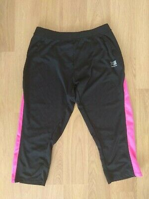 Karrimor Run Leggings Capri Size 12 UK Black Pink Ladies