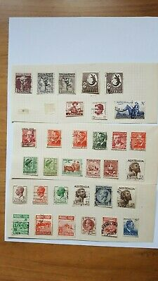 A selection of Australian stamps. Interesting lot.