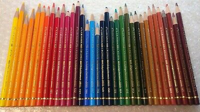 34 Vintage Faber Castell Polychromos Artists Colour Pencil Crayons Thick Leads
