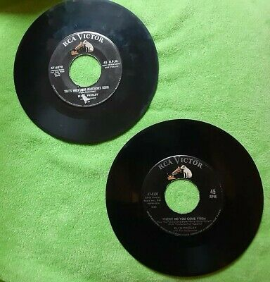 LOT OF GREAT 45'S / ***ELVIS PRESLEY **-  THE HITS - ALSO EP 45'S - VG Overall