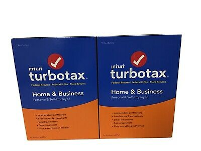 Lot Of 2 Intuit TurboTax Home & Business 2018 - NEW! (#4)
