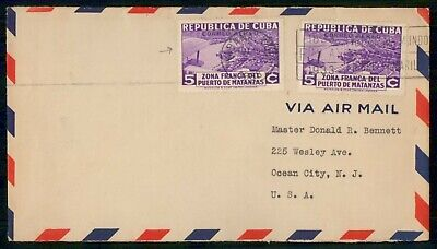 Mayfairstamps Habana 1933 Air Mail to Ocean City NJ Cover wwe_90015